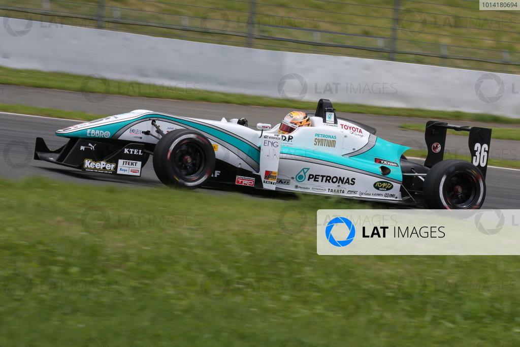 2014 All-Japan F3 Championship. Fuji, Japan. 11th - 13th July 2014. Rd 4. Race 1 - 2nd position Kenta Yamashita ( #36 PETRONAS TEAM TOM'S ) action. World Copyright: Yasushi Ishihara / LAT Photographic. Ref: 2014JF3_Rd8&9_009.JPG