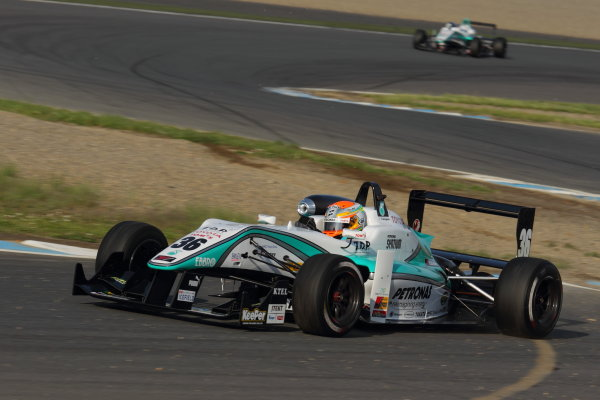 Motegi, Japan. 11th - 12th 2013. Rd 2. Race 3 - Winner  Yuichi Nakayama ( #36 PETRONAS TEAM TOM'S ) action World Copyright: Yasushi Ishihara/LAT Photographic Ref: 2013JF3_Rd5_05