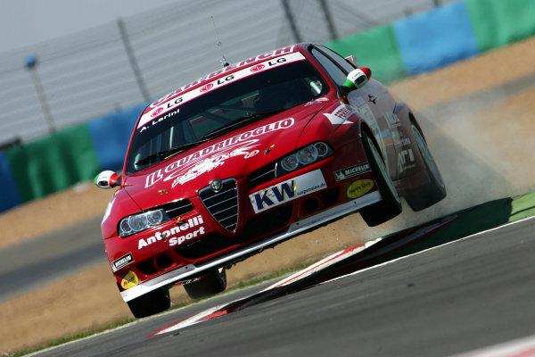 2005 WTCC (World Touring Car) ChampionshipMagny-Cours, France. 30th April - 1st May 20005Andrea Larini (Salvator Alfa Romeo 156Gta), action.World Copyright: Photo4/LAT Photographicref: Digital Image Only