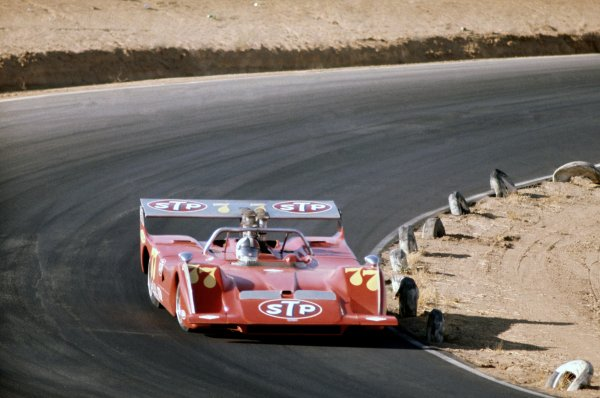 1970 Can-Am Challenge Cup.CanAm race. Riverside, California, United States (USA). 1 November 1970.Chris Amon (March 707-Chevrolet), 4th position.World Copyright: LAT PhotographicRef: 35mm transparency 70CANAM36