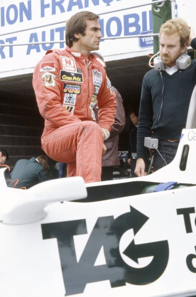 1981 French Grand Prix.Dijon-Prenois, France. 3-5 July 1981.Carlos Reutemann (Williams FW07C-Ford Cosworth), 10th position. Portrait.World Copyright: LAT PhotographicRef: 35mm transparency 81FRA15
