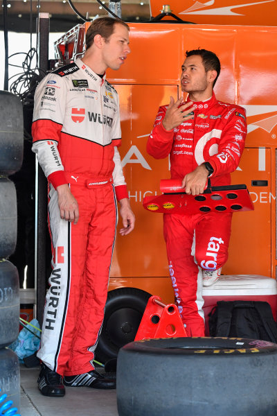 Monster Energy NASCAR Cup Series AAA 400 Drive for Autism Dover International Speedway, Dover, DE USA Friday 2 June 2017 Brad Keselowski, Team Penske, Wurth Ford Fusion, Kyle Larson, Chip Ganassi Racing, Target Chevrolet SS World Copyright: Logan Whitton LAT Images ref: Digital Image 17DOV1LW1509