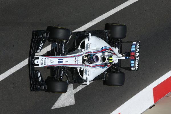 Baku City Circuit, Baku, Azerbaijan. Friday 23 June 2017. Lance Stroll, Williams FW40 Mercedes. World Copyright: Charles Coates/LAT Images ref: Digital Image AX0W5719