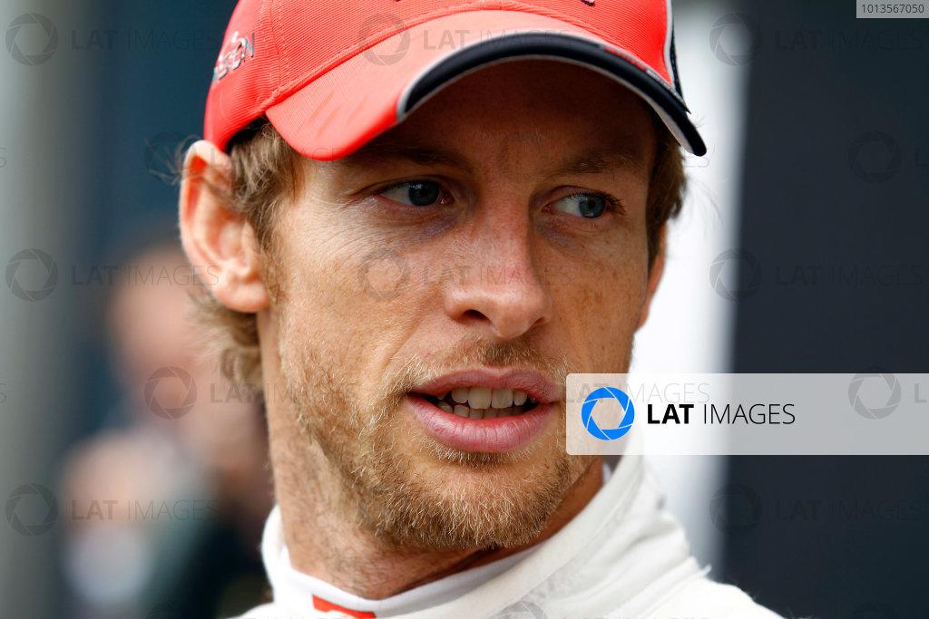 Albert Park, Melbourne, Australia 25th March 2011. Jenson Button, McLaren MP4-26 Mercedes. Portrait.  World Copyright: Steven Tee/LAT Photographic ref: Digital Image _A8C2249
