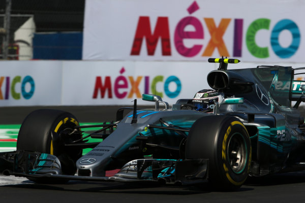 Autodromo Hermanos Rodriguez, Mexico City, Mexico. Friday 27 October 2017. Valtteri Bottas, Mercedes F1 W08 EQ Power+. World Copyright: Charles Coates/LAT Images  ref: Digital Image AN7T8467