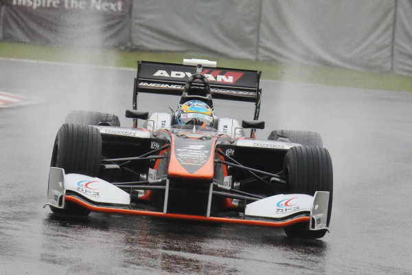 2017 Japanese Super Formula. Suzuka, Japan. 21st - 22nd October 2017. Rd 7. Cancelled race due to Typhoon. 2017 Driver?s Champion Hiroaki Ishiura ( #2 P.MU/CERUMO ? INGING SF14 ) action  World Copyright: Yasushi Ishihara / LAT Images. Ref: 2017_SF_Rd7_005