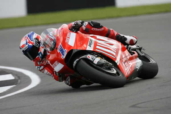 Donington Park, England. 22nd June 2008.MotoGP Race.Casey Stoner Ducati Marlboro Team dominates the British MotoGP round.World Copyright: Martin Heath/ LAT Photographicref: Digital Image