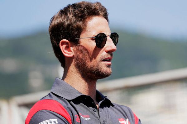 Monte Carlo, Monaco. Sunday 28 May 2017. Romain Grosjean, Haas F1.  World Copyright: Zak Mauger/LAT Images ref: Digital Image _56I7855