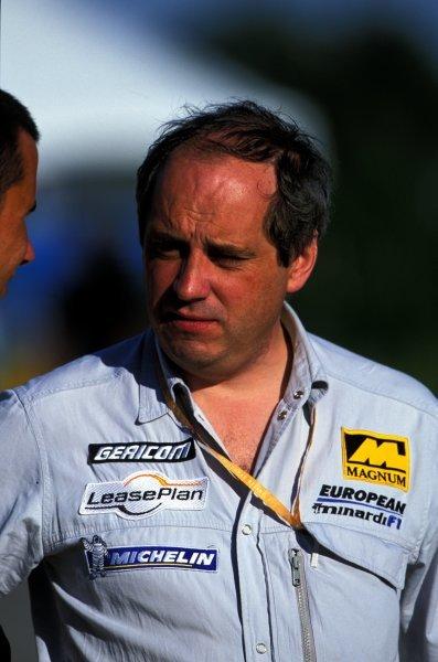 John Davis (GBR) European Minardi. Formula One World Championship, Rd16, United States Grand Prix, Indianapolis, USA. 30 September 2001.