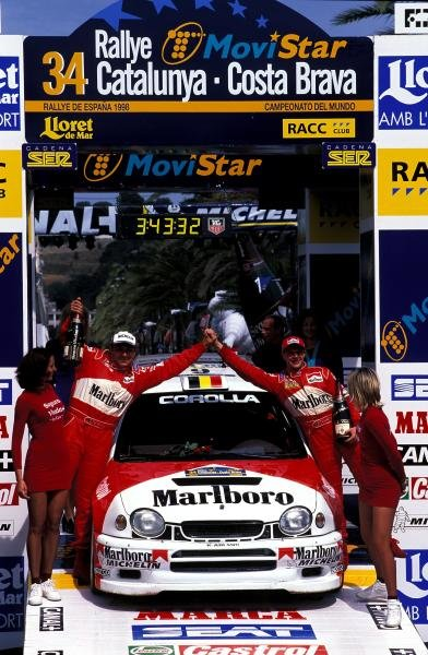 Freddy Loix (BEL) Toyota Corolla WRC finished in 2nd place.