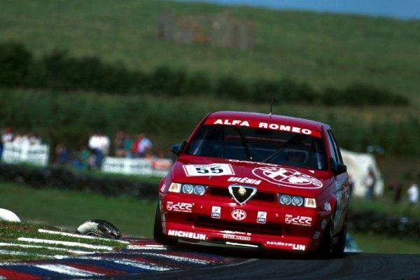 Gabriele Tarquini (ITA) Alfa RomeoBritish Touring Car Championship, Knockhill, Scotland, 31 July 1994.