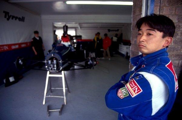 Ukyo Katayama (JPN) Tyrrell Yamaha 020C European Grand Prix, Rd3, Donington Park, England, 11 April 1993.