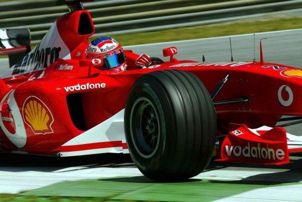 Rubens Barrichello (BRA) Ferrari F2003-GA. Formula One World Championship, Rd6, Austrian Grand Prix, A1-Ring, Austria, 16 May 2003. DIGITAL IMAGE