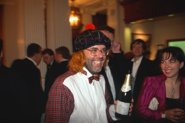 1995 Autosport Awards. Grosvenor House Hotel, Park Lane, London. 3rd December 1995. Peter Foubister in high spirits after the Awards, portrait.  World Copyright: LAT Photographic. Ref:  Colour Transparency.