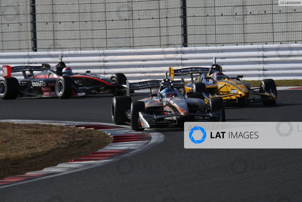 Fuji, Japan. 23rd - 24th November 2013. Rd 7. Fuji Sprint Cup. Winner Yuji Kunimoto ( #39 P.MU/CERUMO·INGING ), action. World Copyright: Yasushi Ishihara/LAT Photographic. Ref: 2013JAF_GP_SF_007
