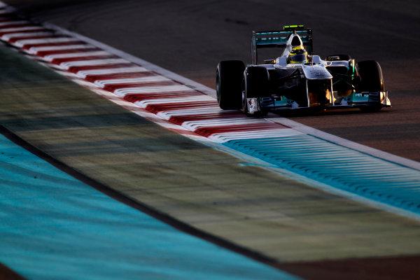 Yas Marina Circuit, Abu Dhabi, United Arab Emirates12th November 2011.Nico Rosberg, Mercedes GP W02. Action. World Copyright:Glenn Dunbar/LAT Photographic ref: Digital Image _G7C4350