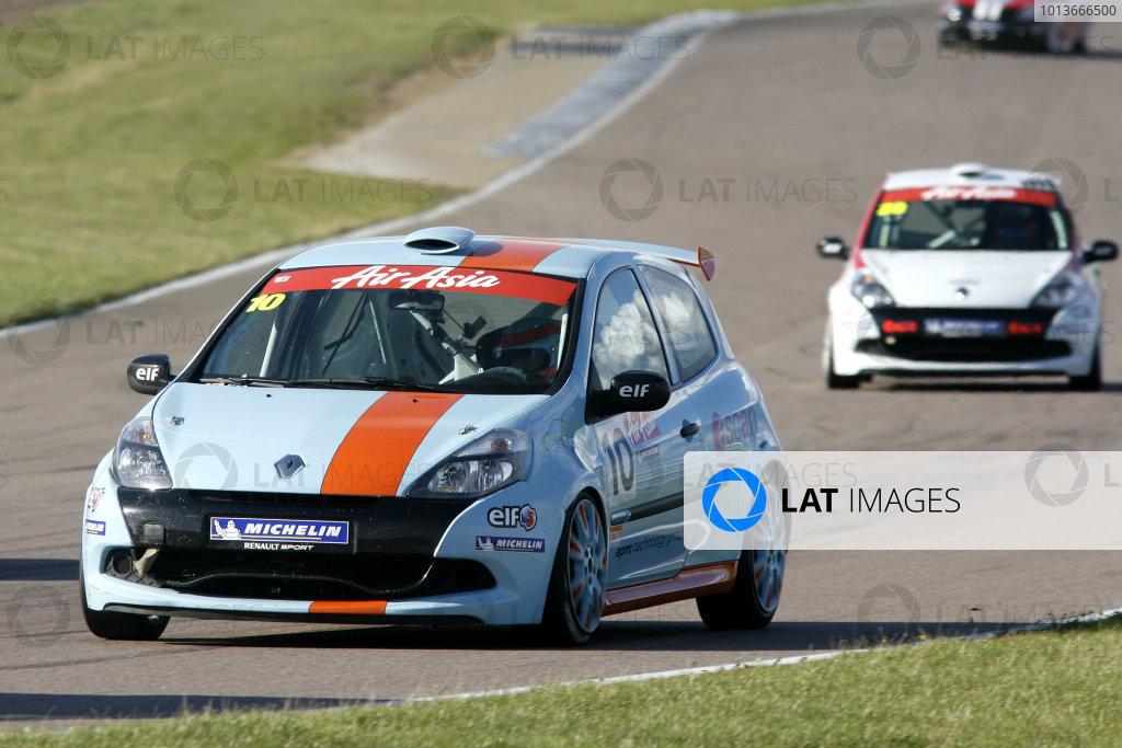 Rockingham, Northamptonshire. 17th - 18th September 2011.Darren Wilson (GBR) 20Ten Racing Limited Renault Clio Cup.World Copyright: Ebrey/LAT Photographic.