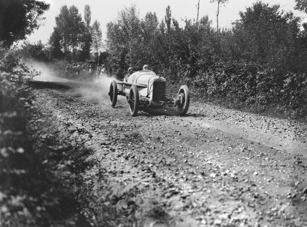 Le Mans, France. 25th July 1921. Albert Guyot (Duesenberg), 6th position, action. Ref: Autocar Glass Plate 7266.World Copyright: LAT Photographic