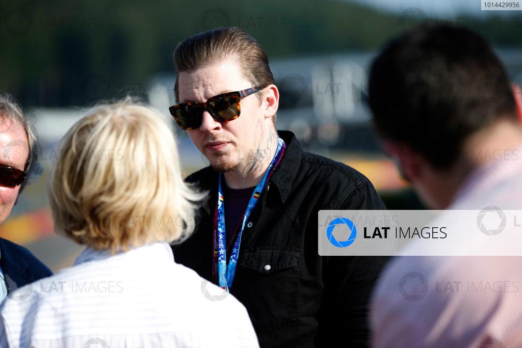 Spa-Francorchamps, Spa, Belgium. Saturday 22 August 2015. Professor Green, pop musician, in the paddock. World Copyright: Glenn Dunbar/LAT Photographic ref: Digital Image _89P3961