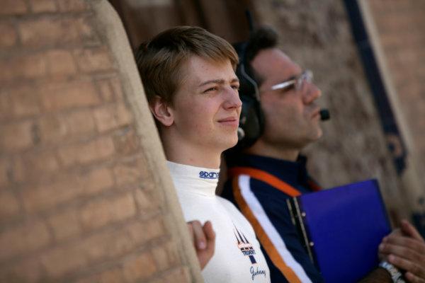 Valencia Spain. 26th June. Saturday Race. Johnny Cecotto (VEN, Trident Racing). Portrait. Portrait. Photo: Drew Gibson/GP2 Media Service. Ref: _O9T4576 jpg