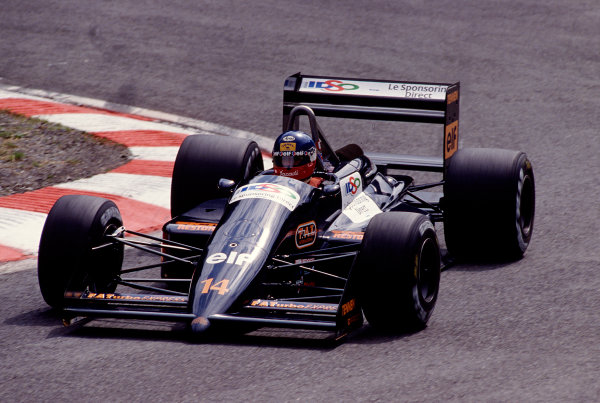 1988 Belgian Grand Prix.Spa-Francorchamps, Belgian.26-28 August 1988.Philippe Streiff (AGS JH23 Ford) 10th position.Ref-88 BEL 25.World Copyright - LAT Photographic