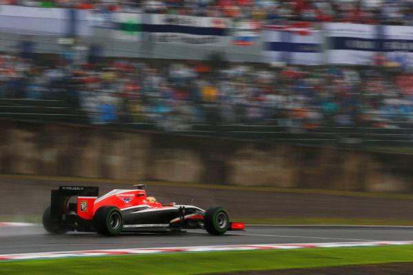 Suzuka Circuit, Suzuka, Japan.  Sunday 5 October 2014. Jules Bianchi, Marussia MR03 Ferrari. World Copyright: Charles Coates/LAT Photographic. ref: Digital Image _N7T0938