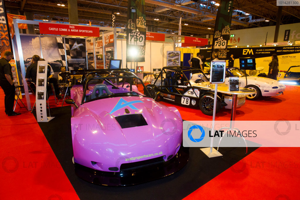 Autosport International Exhibition. National Exhibition Centre, Birmingham, UK. Thursday 8 January 2015. The Castle Combe and Avatar Sportscars stand. World Copyright: Mike Holyer/Jakob Ebrey/LAT Photographic. ref: Digital Image EL0G3116