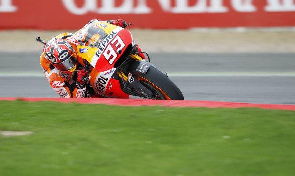 2014 MotoGP Championship  British Grand Prix.  Silverstone, England. 29th - 30st August 2014.  Marc Marquez, Honda.  Ref: _W1_5474. World copyright: Kevin Wood/LAT Photographic