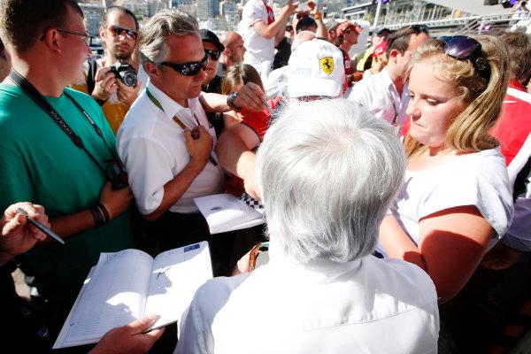 Monte Carlo, Monaco. Saturday 24 May 2014. Bernie Ecclestone, CEO and President, FOM. World Copyright: Charles Coates/LAT Photographic. ref: Digital Image _N7T7504