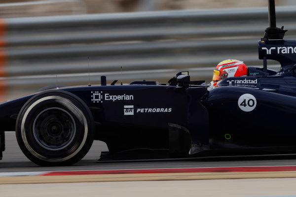 2014 F1 Pre Season Test 2 - Day 4 Bahrain International Circuit, Bahrain. Saturday 22 February 2014. Felipe Nasr, Williams FW36 Mercedes. World Copyright: Andrew Ferraro/LAT Photographic. ref: Digital Image _Q0C2205