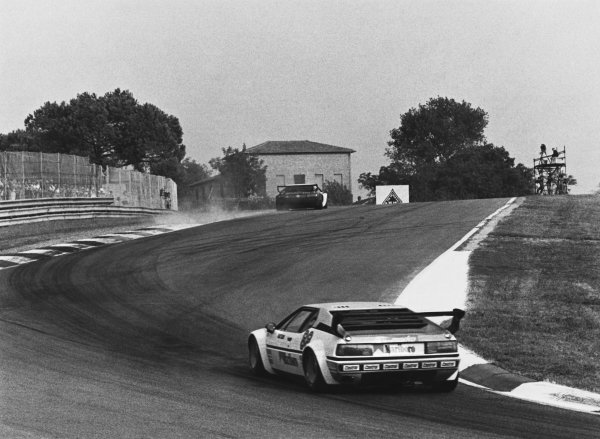 1980 BMW M1 Procar Championship. Imola, Italy. 14th September 1980. Rd 9. Jo Gartner (Helmut Marko), 6th position, action.  World Copyright: LAT Photographic. Ref: B/W Print.