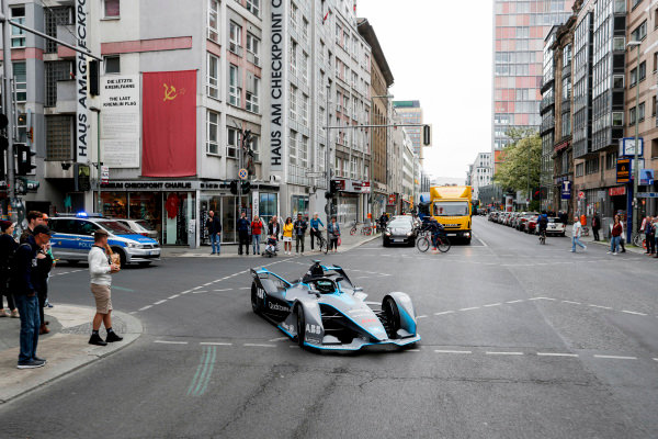 Formula 1 World Champion, Nico Rosberg, drives the Formula E Gen2 car around the streets of Berlin.