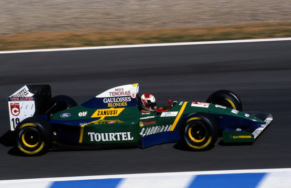 Hideki Noda (JPN), Larrousse LH94, retired with gearbox failure. European Grand Prix, Rd14, Jerez, Spain, 16 October 1994.