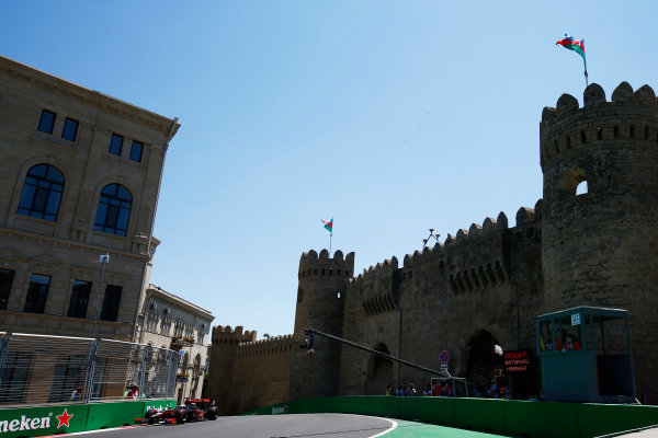 Baku City Circuit, Baku, Azerbaijan. Saturday 24 June 2017. Sergio Canamasas (ESP, Trident)  World Copyright: Hone/LAT Images ref: Digital Image _ONY9699