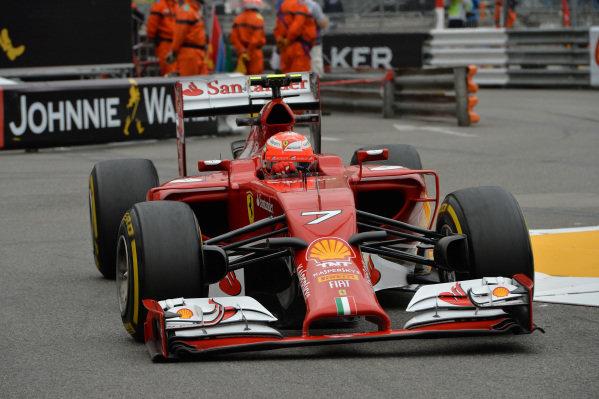 Kimi Raikkonen (FIN) Ferrari F14 T.Formula One World Championship, Rd6, Monaco Grand Prix, Practice, Monte-Carlo, Monaco, Thursday 22 May 2014.