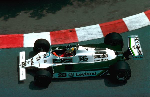1980 Monaco Grand Prix.Monte Carlo, Monaco.15-18 May 1980.Carlos Reutemann (Williams FW07B Ford) 1st position.Ref-80 MON 07.World Copyright - LAT Photographic