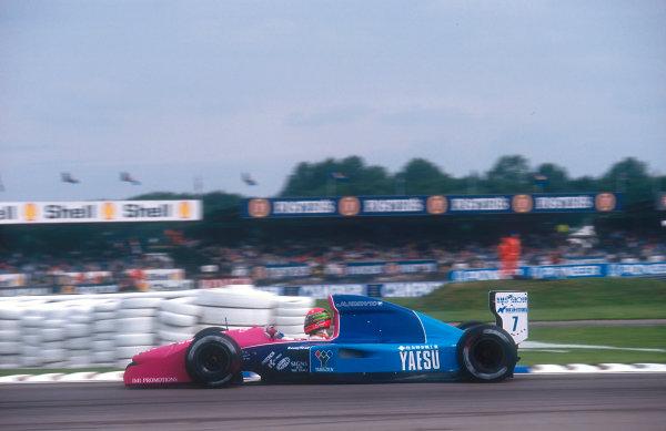 1992 British Grand Prix.Silverstone, England.10-12 July 1992.Eric van de Poele (Brabham BT60B Judd). He failed to qualify.Ref-92 GB 14.World Copyright - LAT Photographic