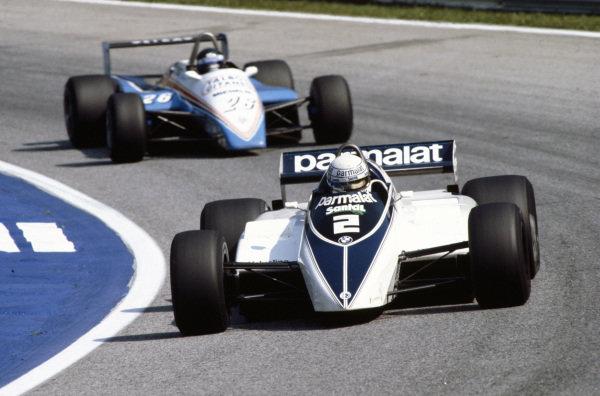 Riccardo Patrese, Brabham BT50 BMW, leads Jacques Laffite, Ligier JS19 Matra.