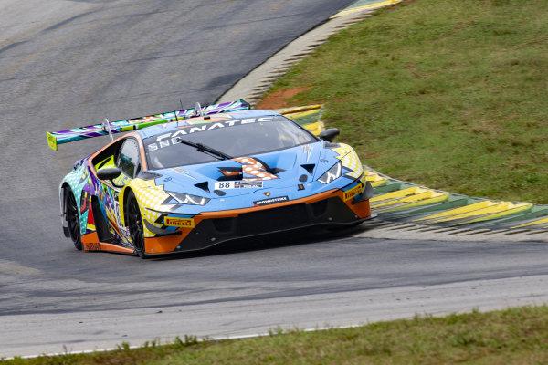 #88 Lamborghini Huracan GT3 of Jason Harward and Madison Snow, Zelus Racing, Fanatec GT World Challenge America powered by AWS, Pro-Am, SRO America, Virginia International Raceway, Alton, VA, June 2021.