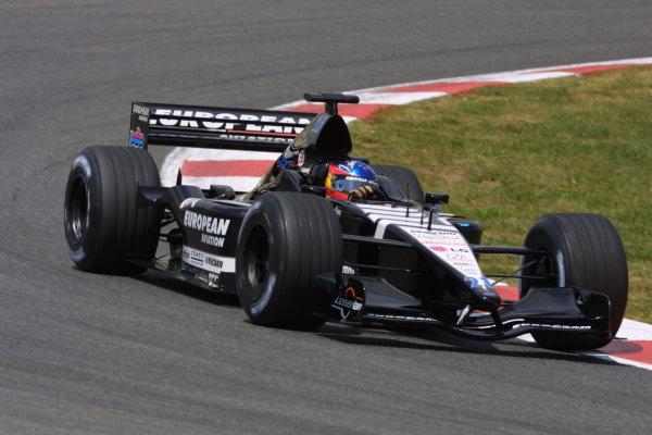 2001 Spanish Grand PrixCatalunya, Barcelona, Spain. 27-29 April 2001.Fernando Alonso (Minardi PS01European).World Copyright - LAT Photographicref: 8 9 MB Digital File