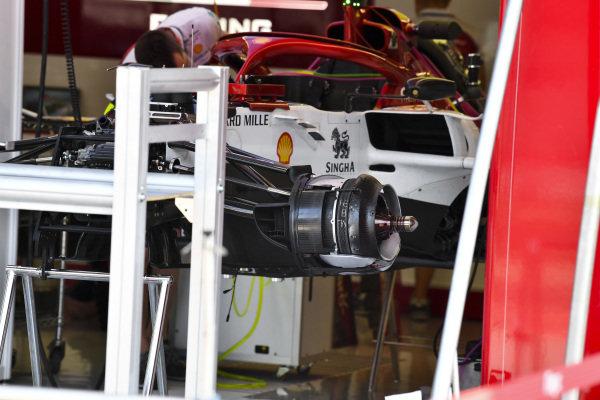 Front brakes on Alfa Romeo Racing C38