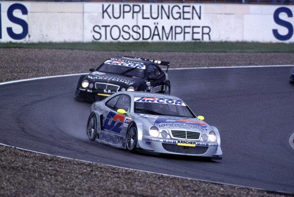 DTM Championship Hockenheim 28th May 2000, Hockenheim, GermanyRace winner Bernd Schneider (Mercedes CLK) leads Marcel Fassler to make it a Mercedes 1 and 2.World - Hardwick/LAT