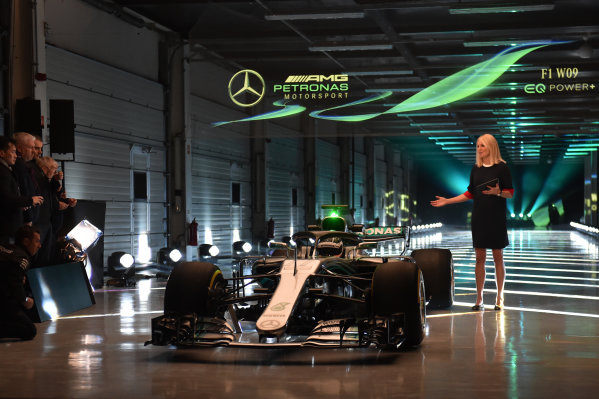 Mercedes-AMG F1 W09 EQ Power+ Launch and First Run Silverstone, England, 22 February 2018. The Mercedes-AMG F1 W09 EQ Power is unveiled. World Copyright: Simon Galloway/Sutton Images/LAT Images Photo ref: SUT_Mercedes_AMG_F_1567657