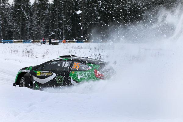 2013 FIA World Rally Championship Round 02-Rally Sweden 07-10 Februari 2013. Al Rajhi Yazeed, Ford WRC 2, Action.. Worldwide Copyright: McKlein/LAT