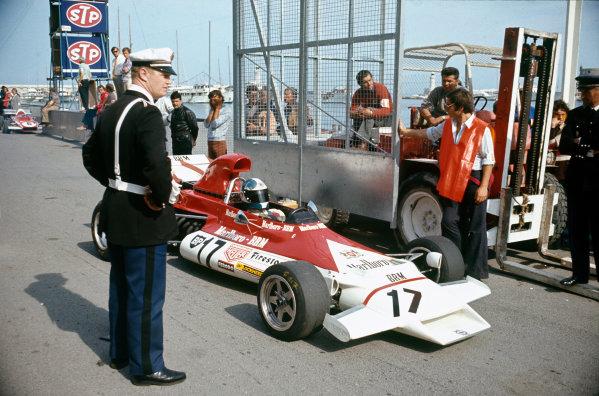 1972 Monaco Grand Prix.  Monte Carlo, Monaco. 11-14th May 1972.  Jean-Pierre Beltoise, BRM P160B, in practice.  Ref: 72MON19. World Copyright: LAT Photographic