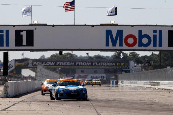 2017 IMSA Continental Tire SportsCar Challenge Visit Sebring 120 Sebring International Raceway, Sebring, FL USA Friday 17 March 2017 27, Mazda, Mazda MX-5, ST, Britt Casey Jr, Robby Foley World Copyright: MIchael L. Levitt LAT Images ref: Digital Image levitt_seb_0317-12759