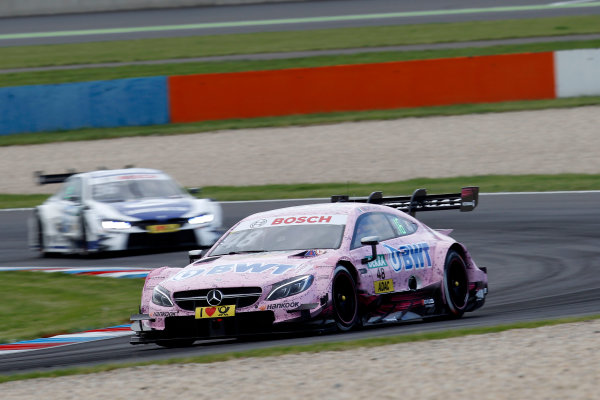 2017 DTM Round 2 Lausitzring, Germany. Saturday 20 May 2017. Edoardo Mortara, Mercedes-AMG Team HWA, Mercedes-AMG C63 DTM World Copyright: Alexander Trienitz/LAT Images ref: Digital Image 2017-DTM-R2-ESL-AT1-1274