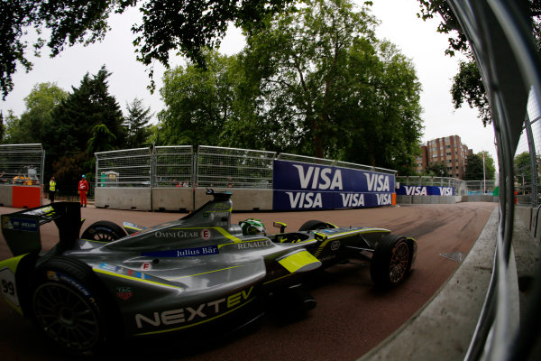 2014/2015 FIA Formula E Championship. London ePrix, Battersea Park, London, United Kingdom. Sunday 28 June 2015 Nelson Piquet Jr (BRA)/China Racing - Spark-Renault SRT_01E  Photo: Zak Mauger/LAT/Formula E ref: Digital Image _L0U0007