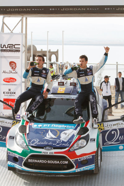 Round 04 Rally Jordan. 14th-16th April 2011.Bernardo Sousa, Ford SWRC, Podium.Worldwide Copyright: McKlein/LAT