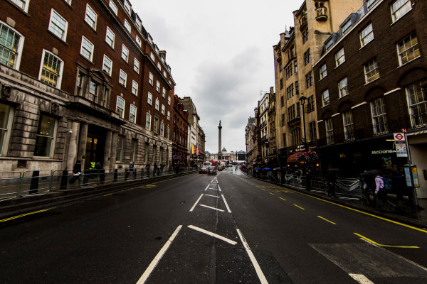F1 Live London. London, United Kingdom. Tuesday 11 July 2017. A view of Whitehall road. World Copyright: Zak Mauger/LAT Images ref: Digital Image _56I5406